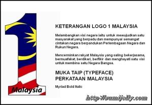 Logo  1 M'sia